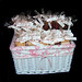 basket of baby name ceremony party favors