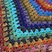 Half granny square shawl