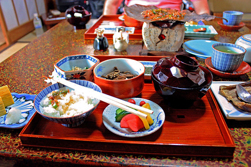 Breakfast at Sumiyoshi ryokan | by Andrea Schaffer