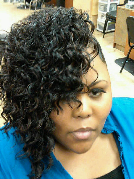 Medium Black Hair Style Deep Waves Fingerwaves Charmalew