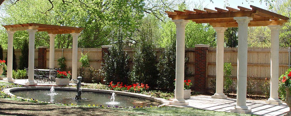 Art deco pergola stirling cast stone fireplaces columns flickr - Deco pergola ...