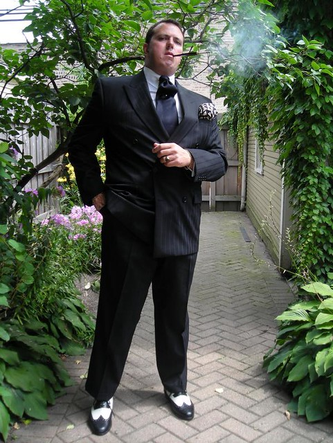 Black Double-Breasted Pinstripe Suit 2 | In a black double-b… | Flickr