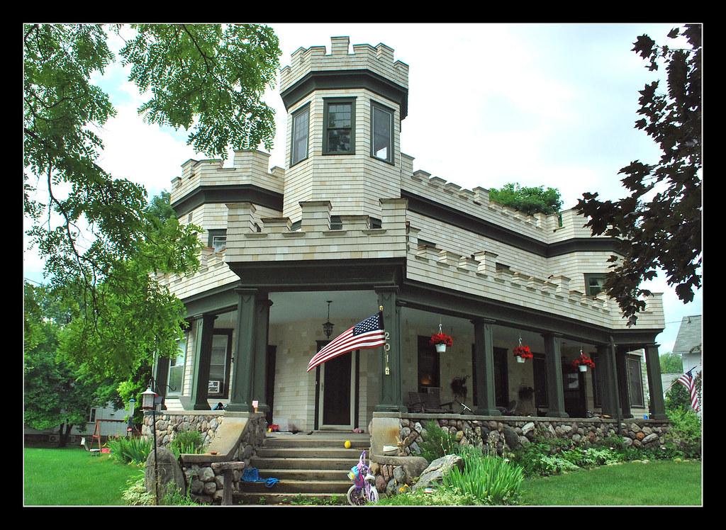 Castle house - Manchester, Michigan | This faux castle