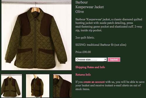 90quid good buy! Barbour 'Keeperwear' jacket, a classic di… | Flickr : barbour keeperwear quilted jacket - Adamdwight.com