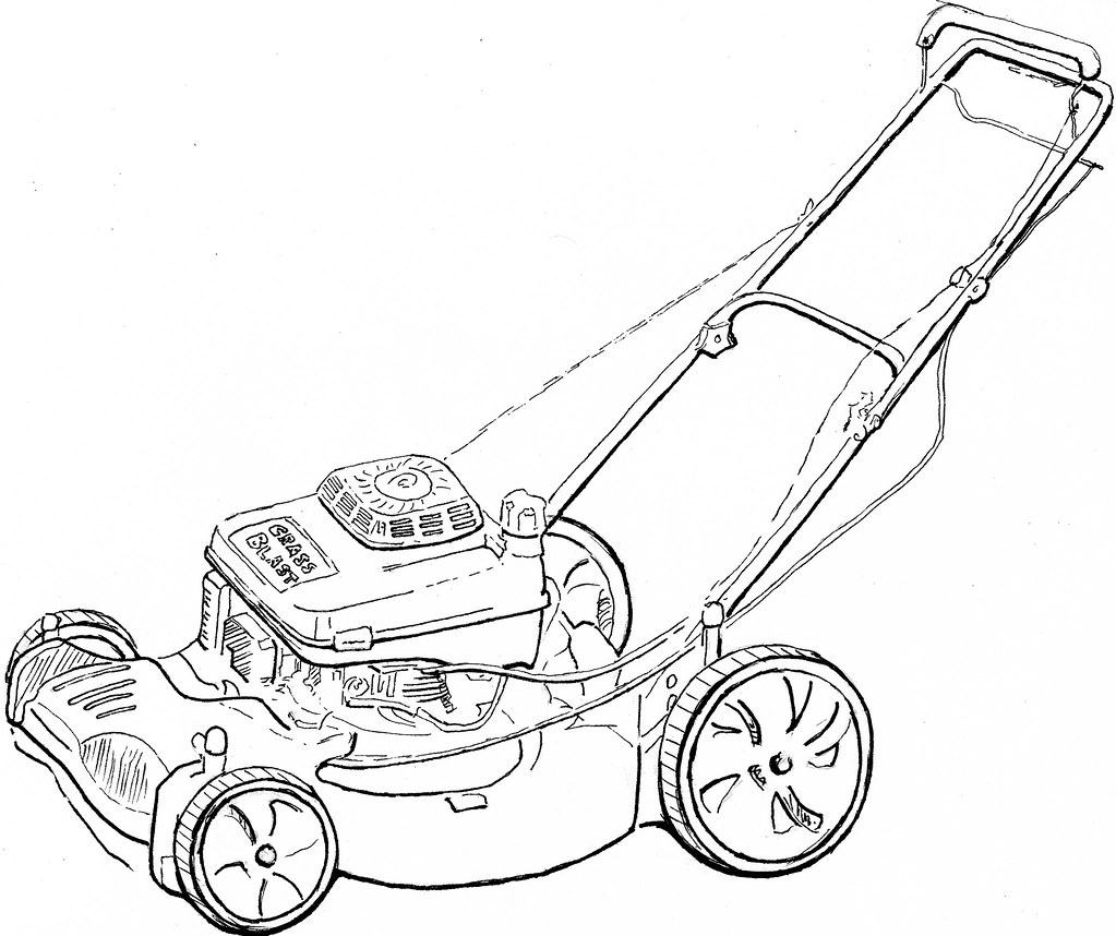 zero turn lawn mower pages coloring pages