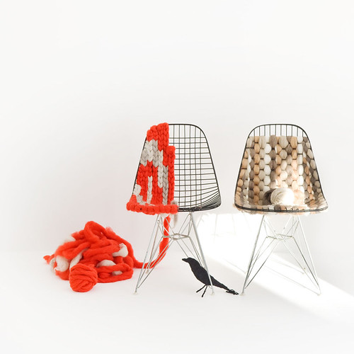 Knitting Eames wire chair | by plainliving