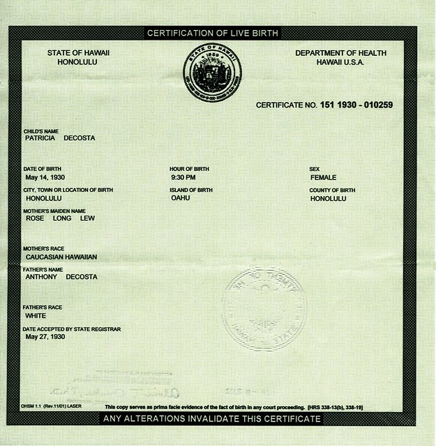 barack obama birth certificate hawaii compare with this ex… | Flickr