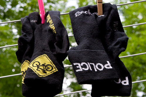 SockGuy socks: Police and Share the Road | by carltonreid