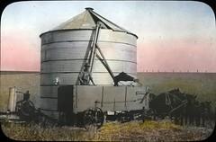 Wheat storage silo in an Oregon field
