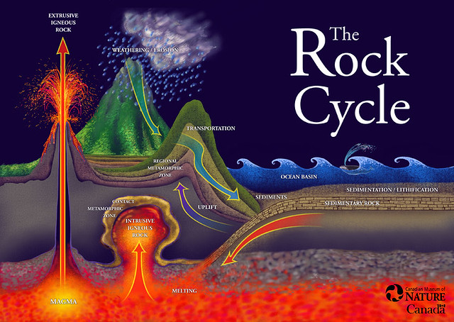 Rock Cycle Poster | Poster for Ottawa's Museum of Nature edu ...