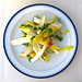 Pear, Roquefort, walnut, chicory and sunflower shoot salad