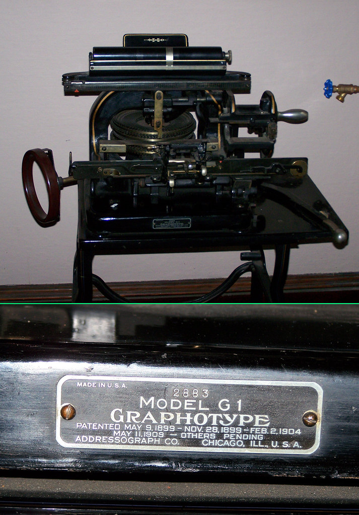 addressograph machine