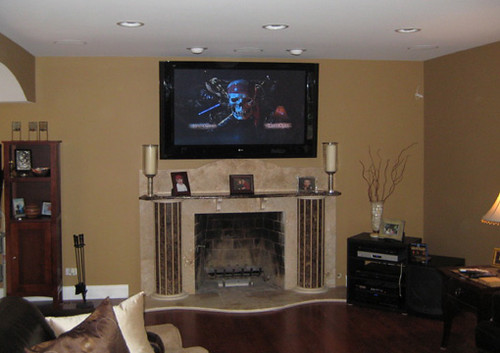 60 plasma over fireplace unique wiring solutions flickr