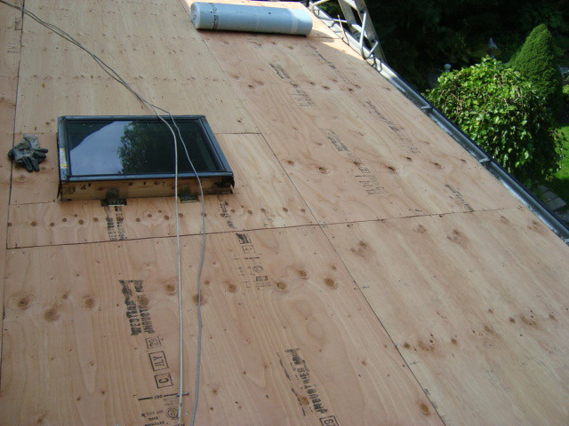 New plywood roof deck permanent repair rip off existing for T g roof decking