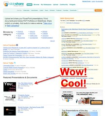 "My Presentation Was ""Featured"" on slideshare.  Coolness! 