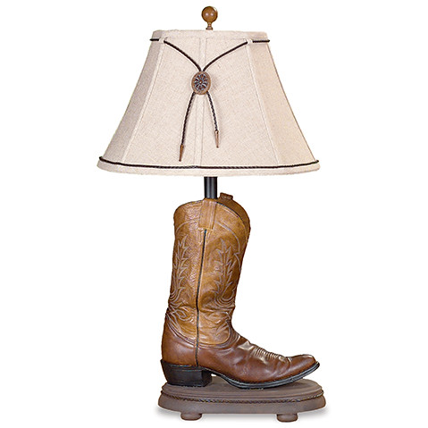 vintage verandah table lamps cl2393s cowboy boot table lamp western range the 6877