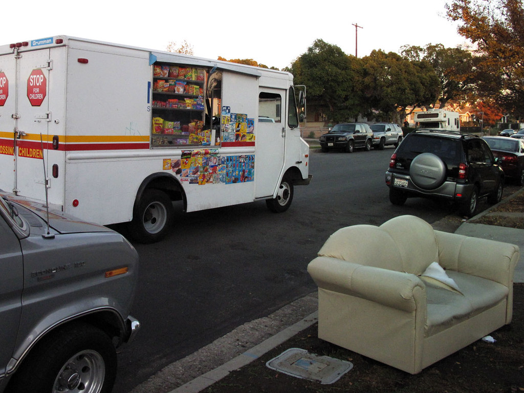 Ice Cream Truck And Abandoned Couch Cozy Seating For Ice C Flickr