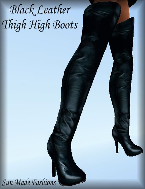 black leather thigh high boots whitfield flickr