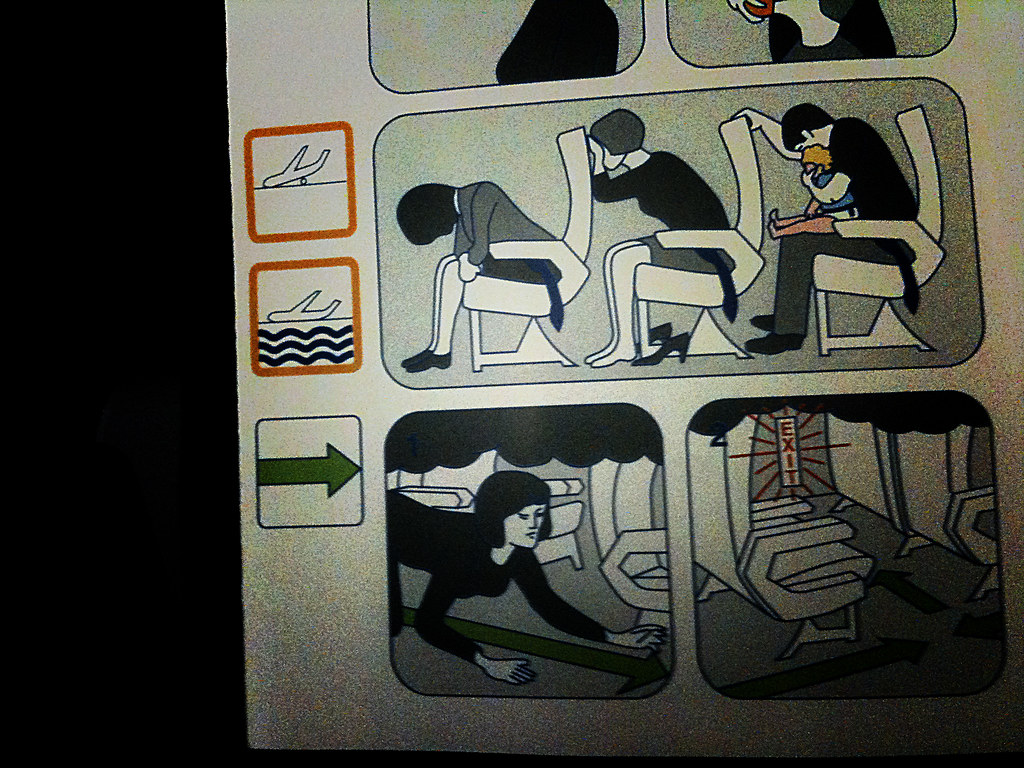 Air france 39 s safety card i can 39 t help but notice that for Air france assistance chaise roulante