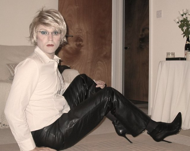 Crossdresser heels flickr agree