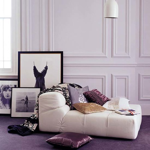 Glamorous Cream And Purple Living Room Post On Brunch At S Flickr