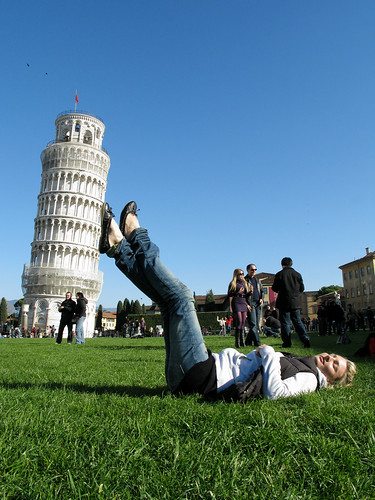 Suzi holding the Leaning Tower of Pisa, Italy '08 | by Marty Portier