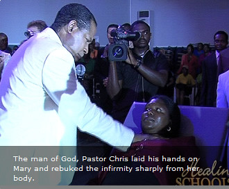 Pastor Chris Ministering to Mary Zulu At The Healing Schoo ...