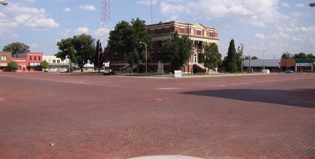 Hall County Courthouse Square Memphis Texas Memphis