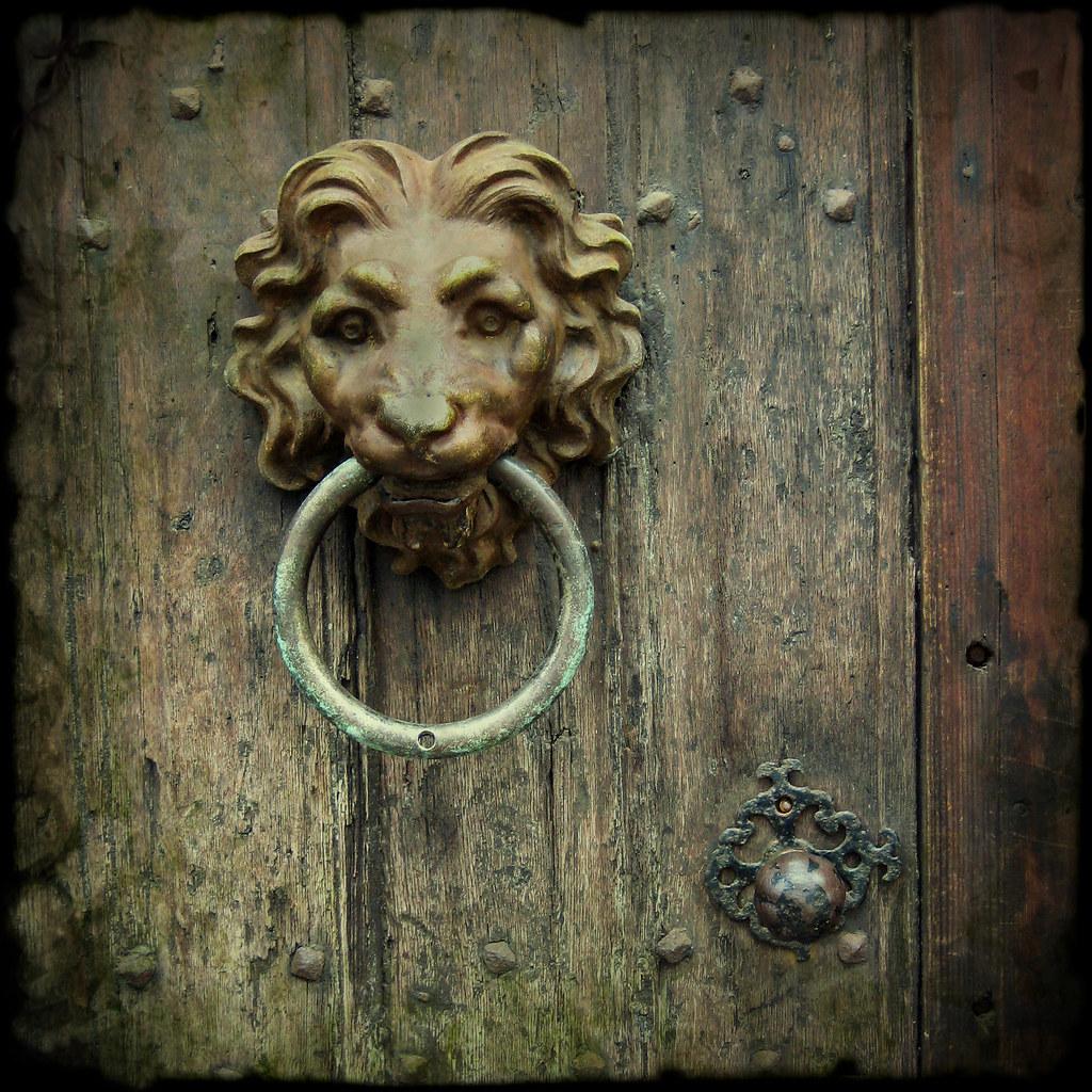 Lion head door knocker antwerp belgium i noticed this wo flickr - Lion face door knocker ...