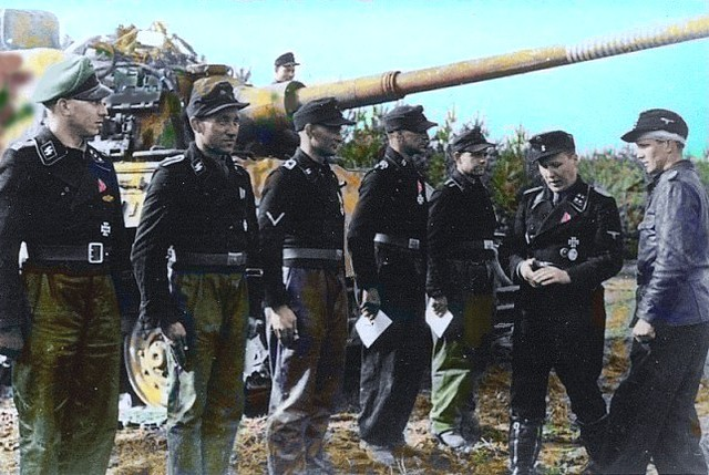 Waffen ss soldiers at the rifle range   GLORY. The largest