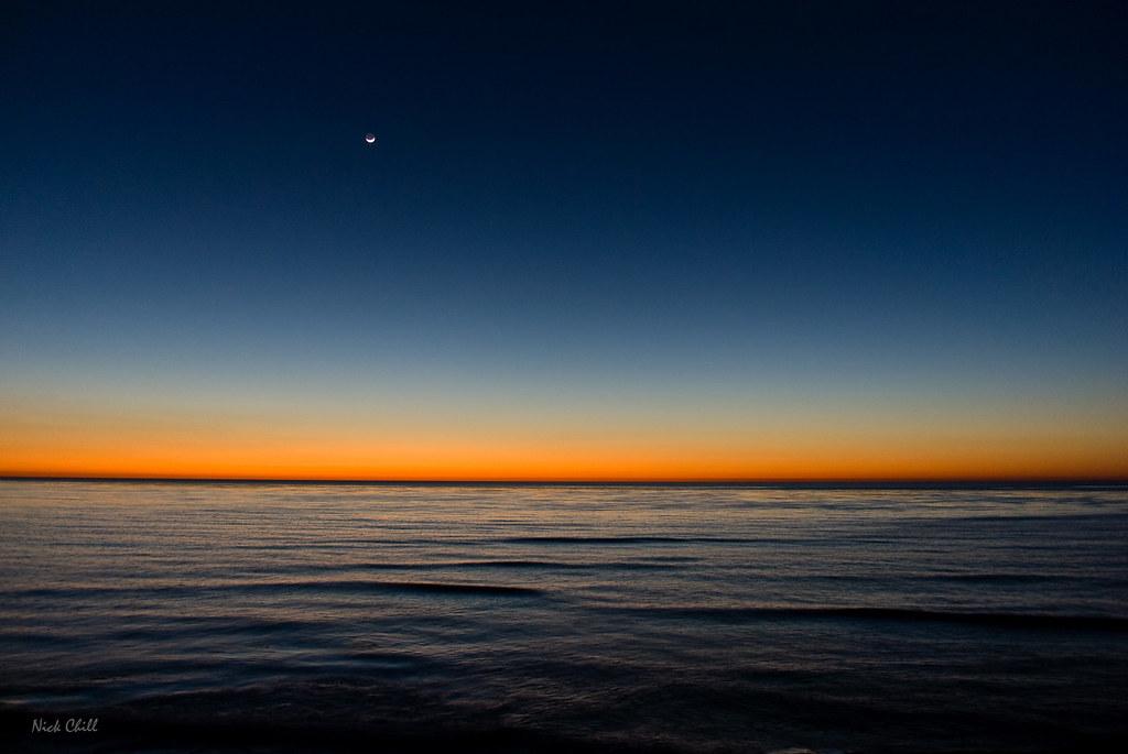 Radiant Sunset Horizon | A brilliant evening sky at Sunset