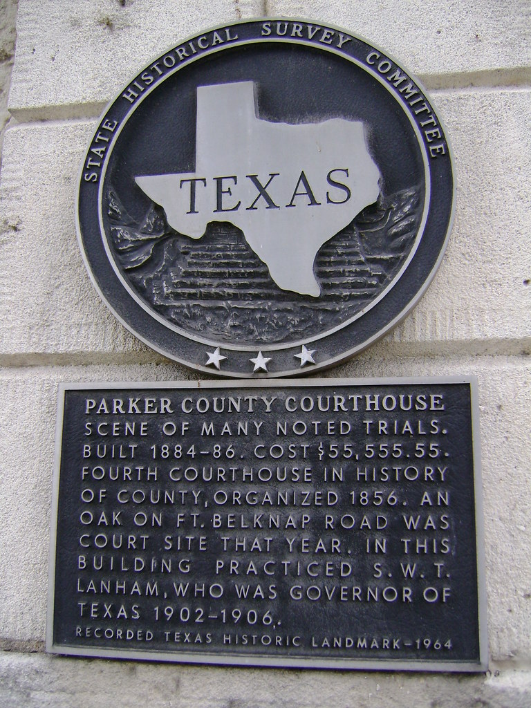 Texas Historical Commission Plaque Parker County Courthou
