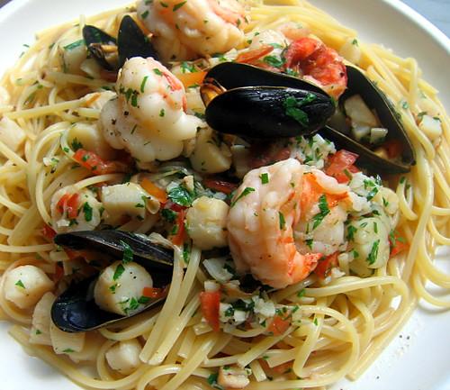 Seafood Scampi over Linguine | Blog - mjgrasso60.wordpress ...