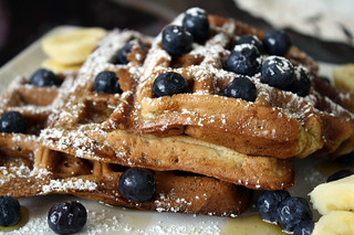 Banana Nut Waffles | by veganjay92