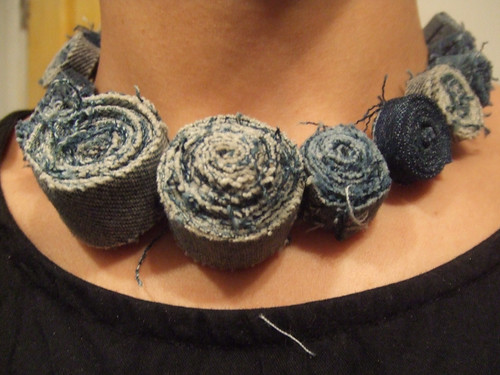denim roll necklace | by misskoco
