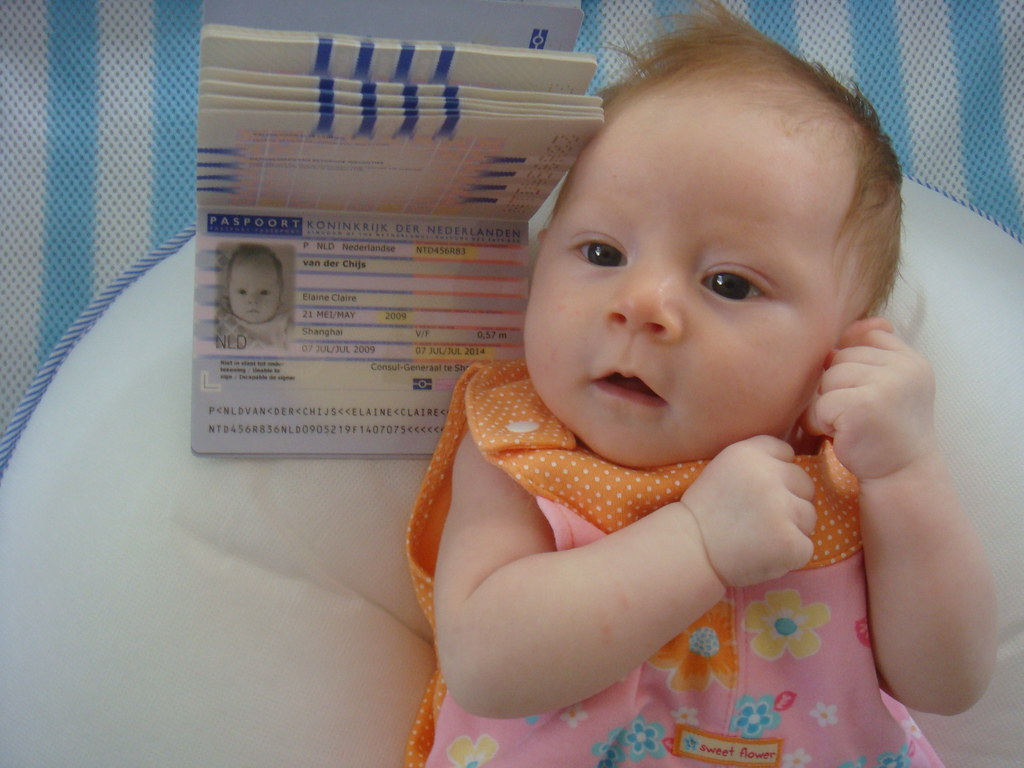Foto bebe pasaporte