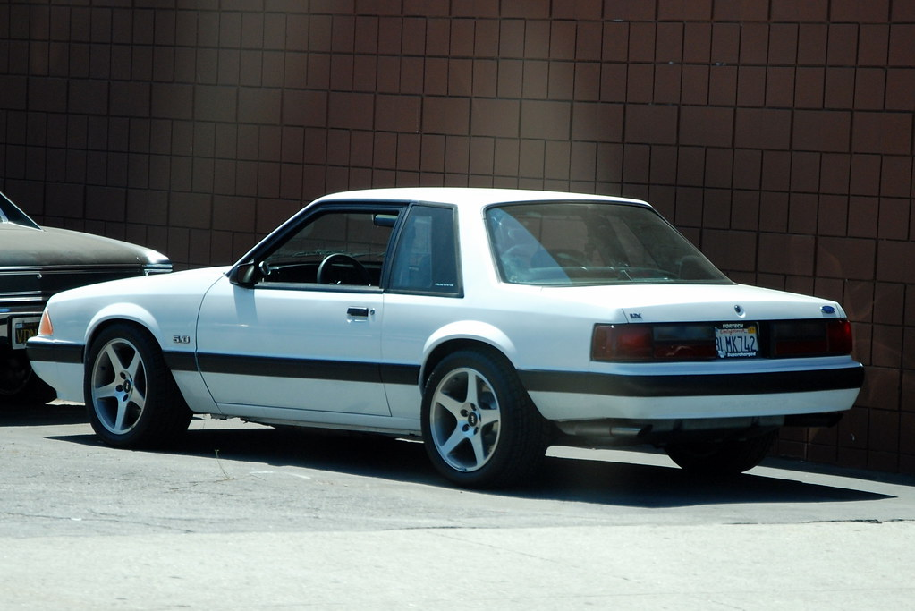 Ford Mustang 5 0 Lx Foxbody Coupe With Svt Cobra Wheels