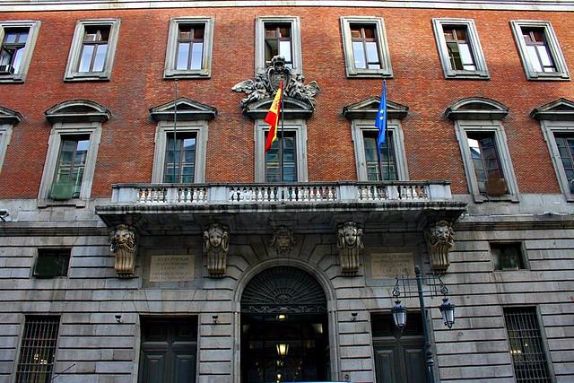 Casa real de aduana ministerio de hacienda calle alcal for Ministerio de seguridad espana