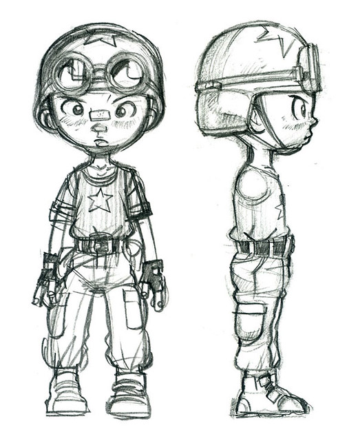 Character Design Masterclass Book One : Character design for comic book tank boy don low flickr
