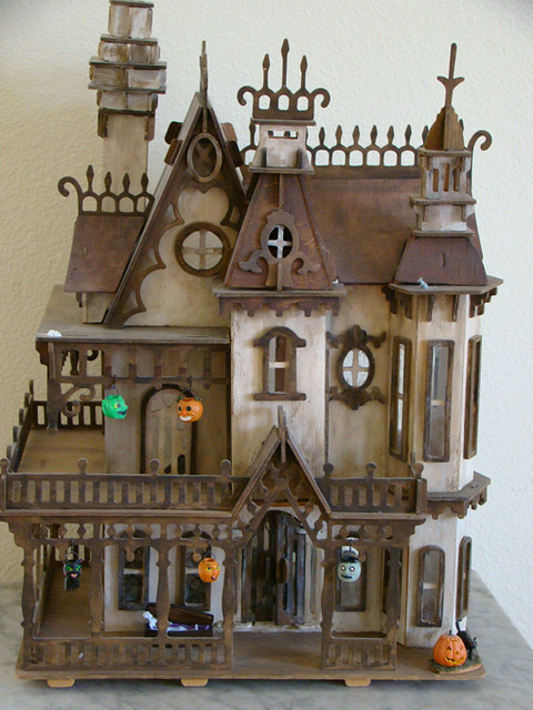 Haunted Dollhouse 1 2 Scale I Built This Dollhouse In 2002 Flickr