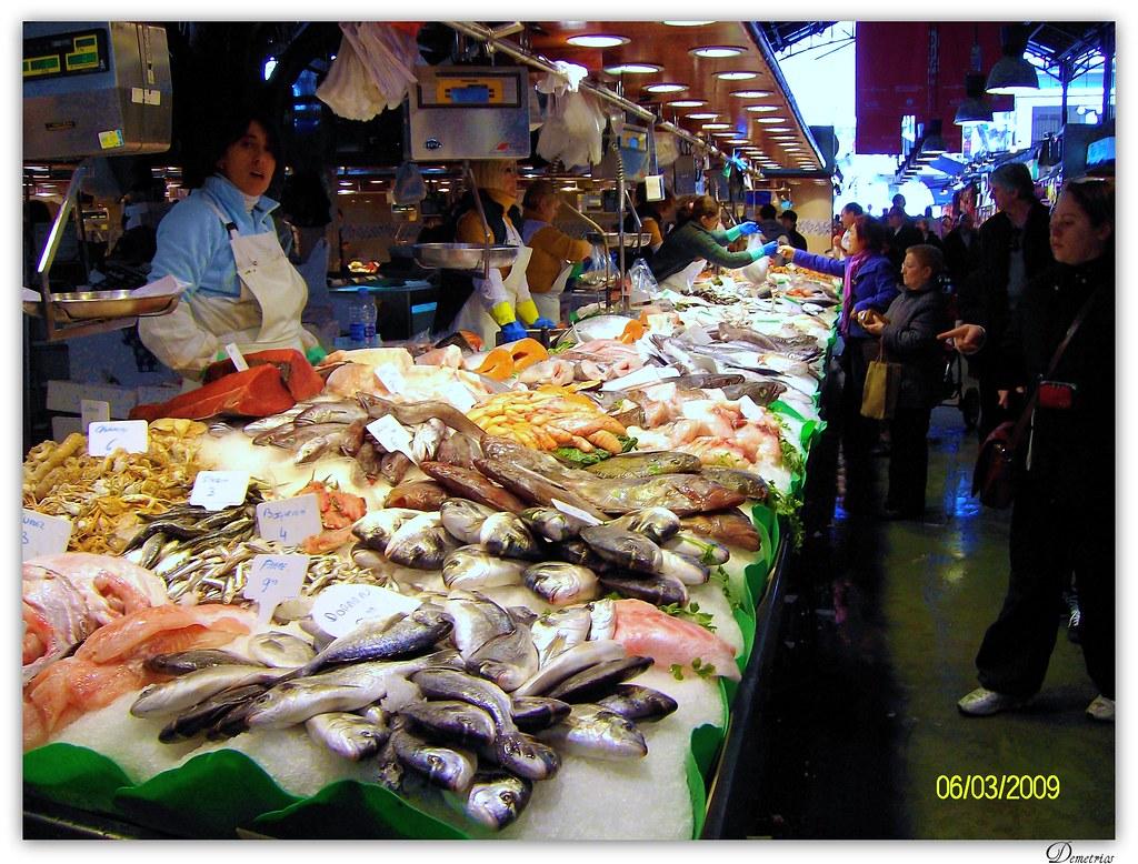 Spain barcelona fish market la boqueria st josep for La fish market