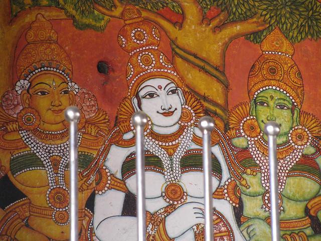 Guruvayur temple mural painting my eyes and lens flickr for Asha mural painting guruvayur