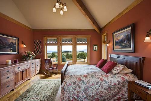 Distinct Western Elegance Timber Frame Home Master Bedro Flickr