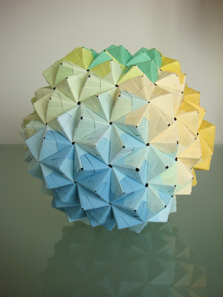 Shades Of Blue Origami Paper