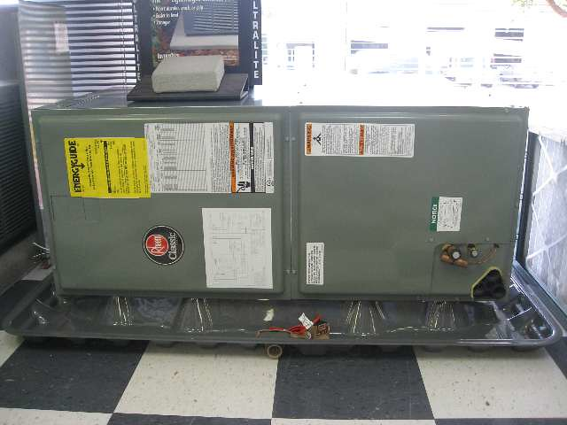 Horizontal Air Handler Placed On A Secondary Drain Pan