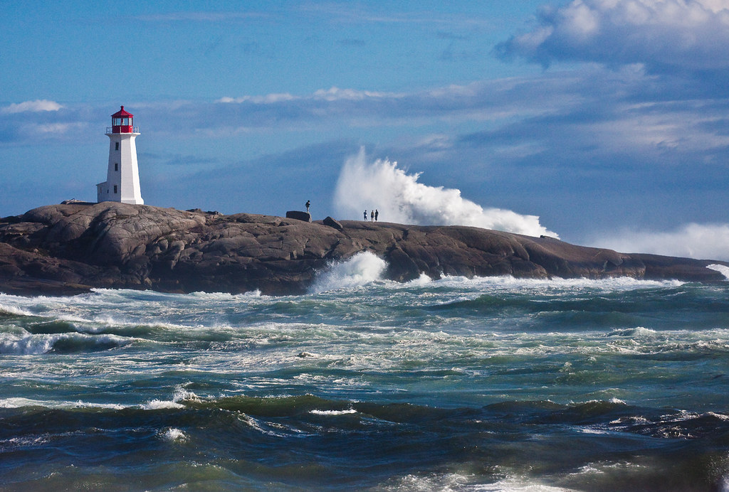 Hurricane Bill at Peggys Cove   This picture was taken ...