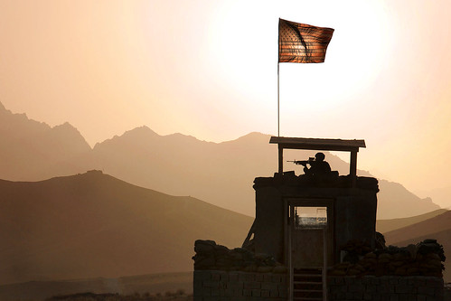 Security at sunset | by The U.S. Army