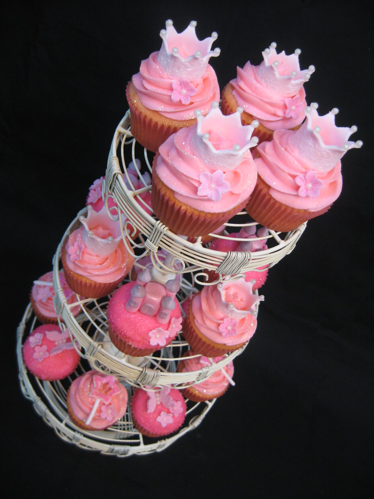 Princess Cupcake Tower I Thought It Would Look Really