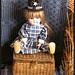 Halloween top hat on vintage doll
