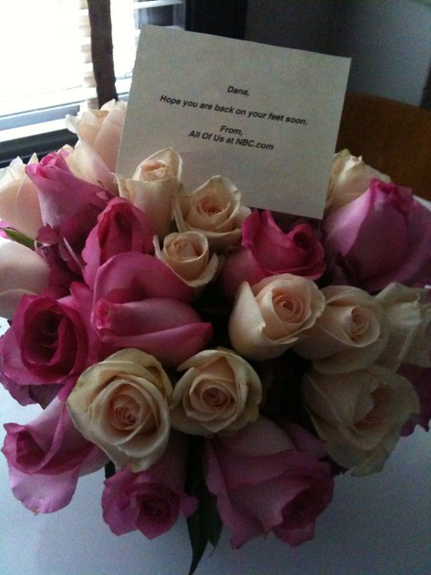 get-well-soon flowers from the office! | awww, thanks NBC ...